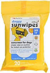 sunscreen dog